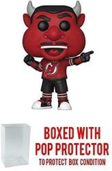 POP Sports Nhl Mascots Nj Devil New Jersey Devils Action Figure Bundled With Shield Protector To Protect Display Box