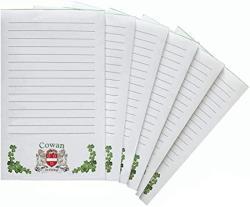 USA Cowan Irish Coat Of Arms Notepads - Set Of 6