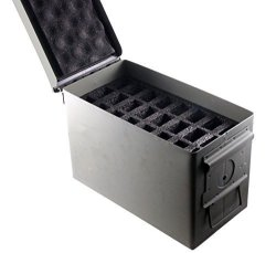 Cal .50 Ammo Can 24 Pistol Magazine Holder Foam - Insert For Steel 50 Iber Ammunition Box M2A1 - Replaces Gun Clip Pouch 1 Pack