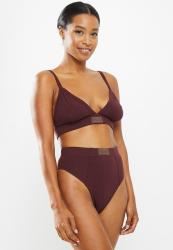 Missguided Msgd High Waist Brief - Burgundy