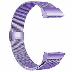 Poy Compatible For Fitbit Charge 3 Bands Replacement Wristbands For Charge 3 Se Fitness Activity Tracker Metal Bracelet Stainless Steel Strap With Unique Magnet