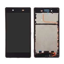 Replacement Parts New For Sony Xperia Z4 Lcd Screen + Touch Screen With Frame Repair Broken Cellphone. Color : Black