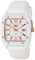 Tko Orlogi Women's Genuine Ceramic Quartz Wrist Watch With Date Windows Rubber Strap Band
