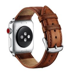 Killerdeals Leather Strap For 42MM Apple Watch - Brown