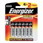 Energizer - Max Aaa 4+2 Pack Alkaline