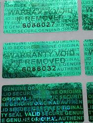 1000 Dealimax Brand Rectangle 15MM X 30MM Security Seal Hologram Tamper Evident Warranty Labels Stickers With Serial Numbers Green