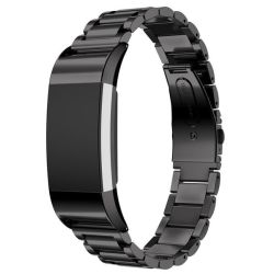 Link Stainless Steel Band For Fitbit Charge 2 - Black