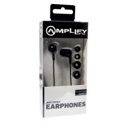 Amplify - Pro Jazz In Ear Headphone Black AMP-1002-BK