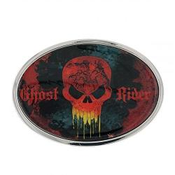 Ghost Rider Skull Oval Belt Buckle Officially Licensed By Marvel + Comic Con Exclusive