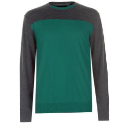 025efaaa933a29 Pierre Cardin Men s Two Tone Knitted Jumper - Green Parallel Import ...