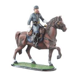 Danila-souvenirs Tin Toy Soldier Us Civil War Confederates General Stonewall Jackson Mounted Hand Painted Metal Sculpture Miniature Figurine 54MM 5.55
