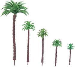 USA Nuobesty Coconut Tree Model Sand Table Model Material Diy Layout Props Scenery Model 5PCS 11CM 16CM 9CM 6.5CM 4.5CM
