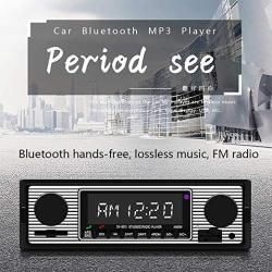 Elegantstunning Bluetooth Vintage Car Radio MP3 Player Stereo USB Classic Car Stereo Audio