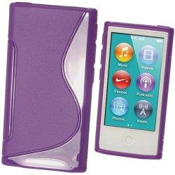 Igadgitz Dual Tone Purple Durable Crystal Gel Skin Tpu Case Cover For Apple Ipod Nano 7TH Generation 7G 16GB + Screen Protector