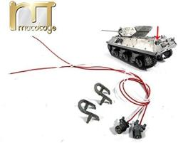 1:16 Metal Rear Lights With Guards For Mato 1210 All Complete Metal M10 Tank Destroyer Rc Tank