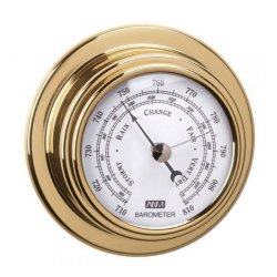 ANVI Barometer - Polished Brass & Lacquered - Circular 95X45MM
