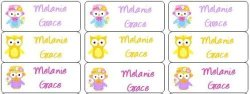 Just Stik It 30 Personalized Waterproof Name Labels Girl Owl Labels Spring Owls Name Labels Personalized Name Labels Personalized Tags Favor Tags Daycare Labels