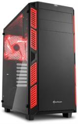 Sharkoon AI7000 Glass Window Atx Tower PC Gaming Case Red With Side