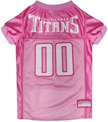 Pets First Nfl Tennessee Titans Dog Jersey Pink Large. - Football Pet Jersey In Pink