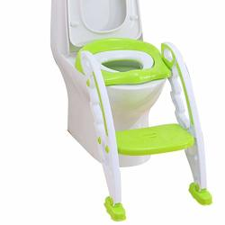 Children's Potty Training Toilet Seat Comfortable Child Toilet Training Seat Baby Baby Toilet Seat Ovu Shape Toilet Adjustable Ladder Skid Color : C