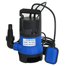 1//2 Hp Submersible Sump Pump 2115GPH Dirty Clean Water Pump with Float Switch