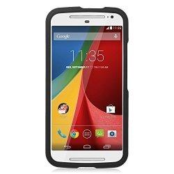 Eagle Cell Motorola Moto G 2ND Gen Case Rubberized Hard Snap-in Case Cover For Motorola Moto G 2ND Gen Black