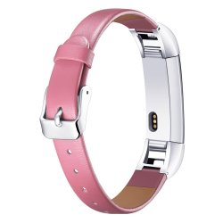 Leather Band For Fitbit Alta - Pink