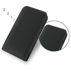 Pdair Black Leather Vertical Pouch For Blackberry Z30