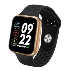 F8 Pro 1.3 Inch Touch Screen Smart Bracelet Support Sleep Monitor Blood Pressure Monitoring Blood Oxygen Monitoring Heart Rate Monitoring Shell Color:gold Black