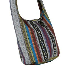 BTP Cotton Sling Bag Purse Cross Body Messenger Purse Hippie Hobo Hand Woven Ikat A58