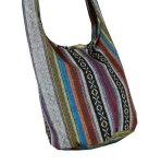 BTP Cotton Sling Bag Purse Cross Body Messenger Purse Hippie Hobo Hand Woven Ikat A58