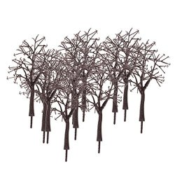 Loveindiy 10X Bare Trunk Tree Branch Model 1:75 Tree Branches For Train Park Diorama Winter Scene Layout