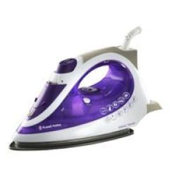 Russell Hobbs 2200W Ideal Temp Iron - RHI007 - Steam Burst Rate: 190G Continuous Steam Rate: Up To 35G min Convenient Ultra Lon