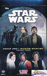 2016 Topps Star Wars Rogue One Mission Briefing Factory Sealed Hobby Box With 24 Packs Includes Two 2 Hits Look For Autographs From Actors For