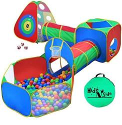 KIDS 5PC Ball Pit Tents And Tunnels Toddler Jungle Gym Play Tent With Play Crawl Tunnel Toy For Boys Babies Infants Children W