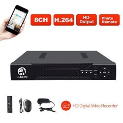 JOOAN 8CH 1080N Dvr Security Video Recorder P2P Service Mobile Remote Monitoring 8 Channel Dvr Smartphone&pc Easy Remote Access 5 In 1 Multi-function Digital Video Recorder