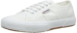 Superga Womens Classic Cotu Canvas Retro Plimsoll Low Top Sneakers - White - 9