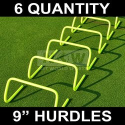 """Net World Sports 6"""" Speed Hurdles Set Of 6 - New And Improved Design Highest Quality 6 Inch"""