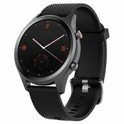 Motong 20MM Silicone Replacement Wrist Band Strap For Mobvoi Ticwatch C2 Samsung Galaxy Watch Active 40MM Silicone Black