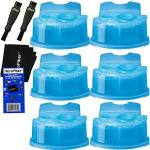 Braun Clean & Renew Refill Cartridges Replacement Cleaner Cleaning Solution 6 Pack For Series 3 Series 5 Series 7 & Series 9 + D