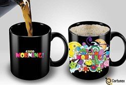 Cortunex Heat Sensitive Mug Color Changing Coffee Mug Funny Coffee