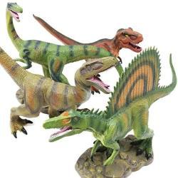 "Boley 4 Pack 12"" Jumbo Monster Authentic Dinosaur Set - Educational Dinosaur Toy Playset For Kids Children Toddlers - Great As Kids Dinosaurs Toys"