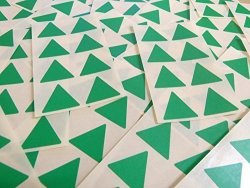 "Minilabel 25MM 1"" Triangle Shape Color Code Stickers - Packs Of 96 Large Colored Triangular Sticky Labels - 32 Colors Available Mid Green"