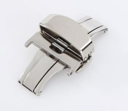 22MM Deployant Clasp buckle With Double Push Button Release
