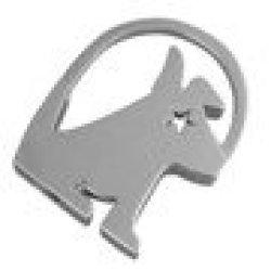 Little Dog Keyring- Metal