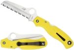 Spyderco Atlantic Salt Yellow Handle Spyder - C89syl