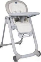 Chicco Polly Progress 5 Highchair White Snow