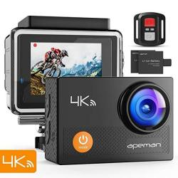 APEMAN Action Camera 4K Wifi 16MP Waterproof Underwater Camera Ultra Full HD Sport Cam 30M Diving With 2 Lcd 170 Degree Wide-ang