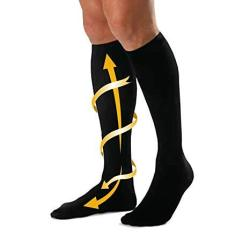 Cabeau Bamboo Compression Socks - Travel home Help Swelling blood Flow Black Large