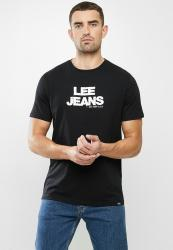Lee Stitched Jean Tee - Black